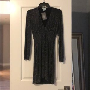 Veronica M black and silver dress